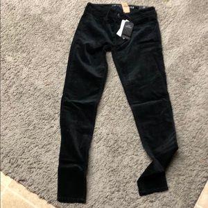 Velveteen black jeggings size 6 long